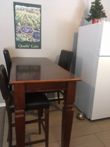 Bar Stool Table and 4 Chairs