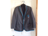 "CANFORD MAGNA ACADEMY POOLE ~ GREY SCHOOL JACKET/BLAZER ~ SIZE 22/44"" CHEST"