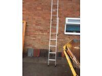 Easy Store Sliding Loft Ladder Aluminium 3-Section 12-Tread