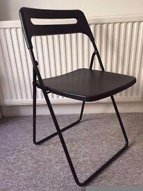 IKEA Nisse folding chair black