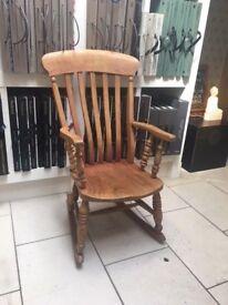 Victorian beech farmhouse rocking chair