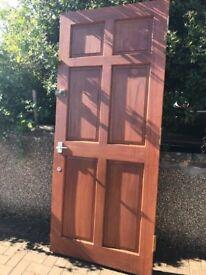 Solid Mahogany External Door for sale