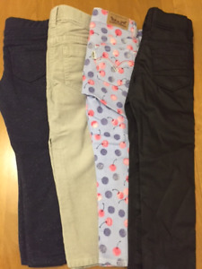 Four pairs of brand new designer girls pants.