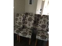 6 x Floral Dining Chairs