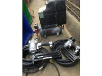 Compressor, Nail guns & spray attachments