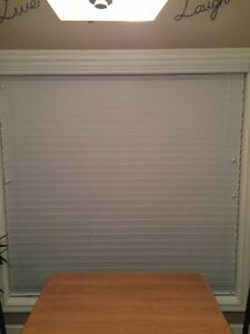 "5 BRAND NEW 2 1/2"" WHITE FAUX CUSTOM BLINDS"
