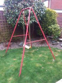 Metal Garden swing frame and seat