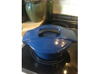 Vintage Le Creuset Blue Casserole, Fab Size & Colour.