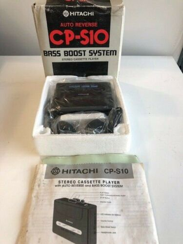 New Walkman Hitachi CP-10 Stereo Cassette Tape Player with headphones