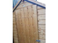 Wooden garden shed. 6'ft x4'ft
