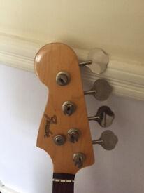 Fender 1996 '62 Reissue Made in Japan Left Handed 50th Anniversary Jazz Bass Fretless bass