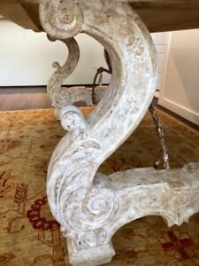 Beautiful white distressed dining table