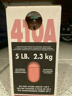 R410A  5 lb. new factory sealed. FREE SAME DAY SHIPPING BY 3 pm mst !!