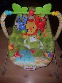Fisherprice baby bouncer (with box)