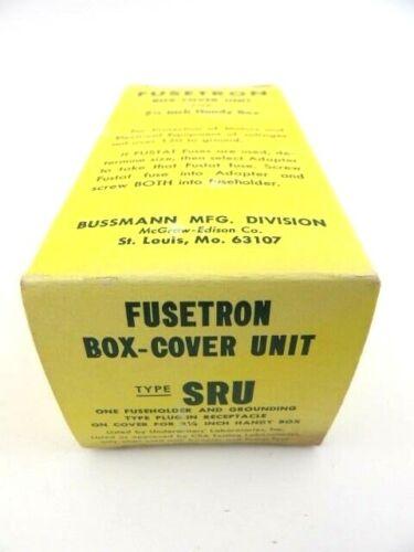Buss SRU Fusetron Handy Box Cover Unit Fuseholder & Grounded Receptacle Bussmann