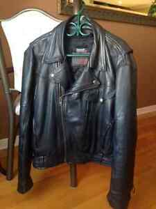 Leather jacket and chaps for sale