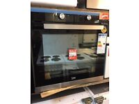 BEKO INTEGRATED SINGLE OVEN BLACK AND STAINLESS STEEL-NEW EX DISPLAY