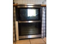 AEG 49002VMN free-standing electric ceramic cooker - stainless steel double oven