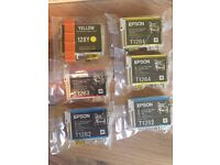 EPSON new unopened ink printer cartridges from the Fox range T1282/T1283/T1284