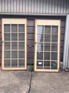 Set of pockets doors