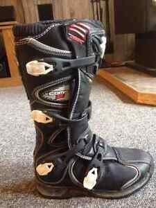 Moto Cross Boots  2 Pair Size 8 one Youth, one Adult