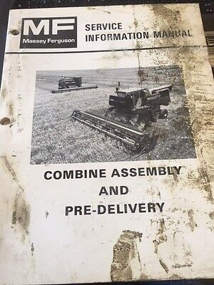 Massey Ferguson Service Manual Combine Assembly And Pre Delivery 540550850860