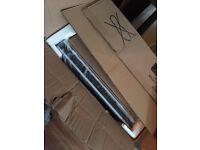 COOKER HOOD: BRAND NEW IN BOX CDA stainless steel chimney hood with black trim paid £225