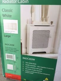 As New, Classic Large Fully Finished White Radiator Cover, Boxed