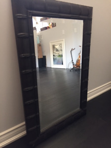 Dark Wood Framed Wall Mirror