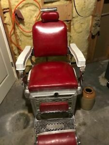 Vintage barber chair in good shape 750.00 obo