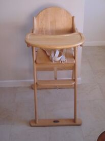 Baby Weavers light natural wood high chair