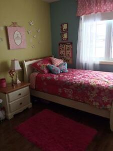 Girls bedding set and accents (lamp, rug, picture, etc.)