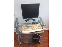Computer with table ,Cpu,keyboard