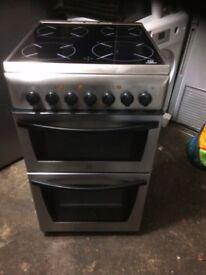 £94.27 Indesit sls/Black ceramic electric cooker+50cm+3 months warranty for £94.27