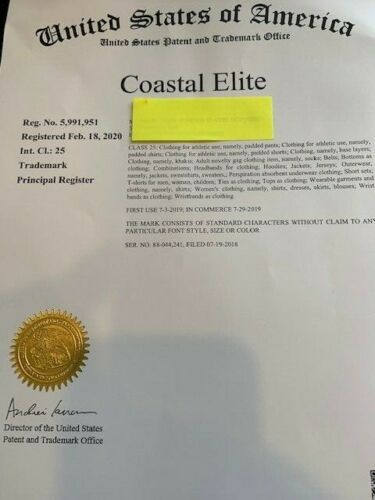 Coastal Elite Trademark For Sale; With Domain Names