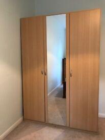 3 doors Wardrobe with mirror Sold!!!