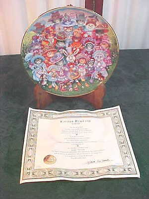 Franklin Mint/Bill Bell Limted Edition Decorative Easter Purrade Collector Plate