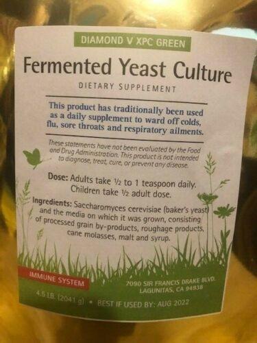 Diamond V XPC Green Yeast Culture 4.50 lb NON-GMO Health-Immune-use by Aug-2022