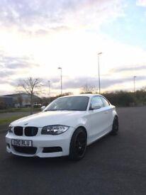 BMW 1 SERIES COUPE 118D WHITE E82 BLACK LEATHER SEATS