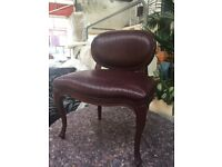Quality Leather, wood framed dining chairs