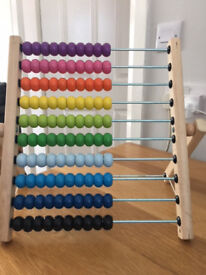 ABACUS - IKEA Childrens Wooden Abacus Toddler Learning Maths Counting-Toy
