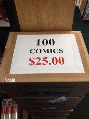 Comic Grab Box of 100 Comics Only $25.00 No Duplicates Marvel & DC