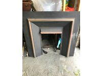 Unused - Cast Iron Fire Surround - with full kit/trays/internals for working fireplace.