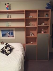 Wallunit and a double bed frame