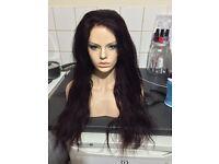20inch Malaysian full lace wig, dark wine colour 200% heavy density