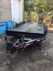 JC Trailer for sale, was used to haul backhoe. Well built!