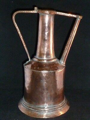 Stylish Antique Middle Eastern Copper Water Pitcher, Early 20thC
