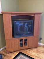 "Unit for 36"" TV or removable top for Flat Screen (FREE TV!)"