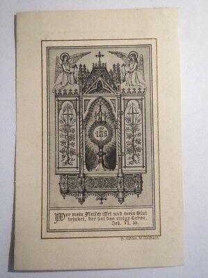 Abendmahl Eucharistie Kelch im Schrank / Andachtsbild Heiligenbild (Heilige Kelch)