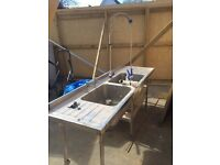 Double Commercial Sink for sale